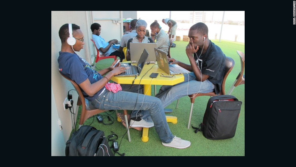 The Co-Creation Hub, in Lagos, is a place for young, creative and tech-savvy Nigerians to collaborate and innovate.