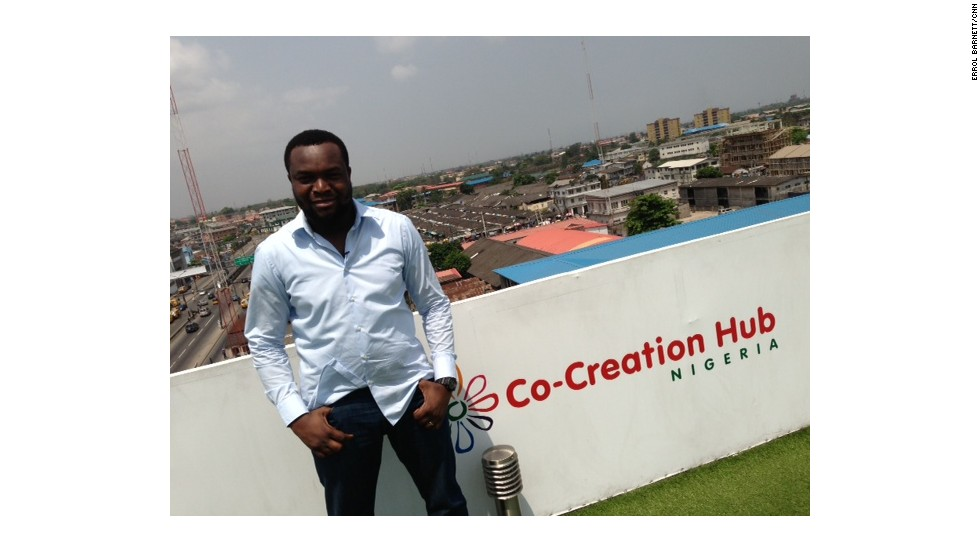 Founder 'Bosun Tijani says it has a strategic location, sitting between the University of Lagos, a design school and 20 tech start-up companies.