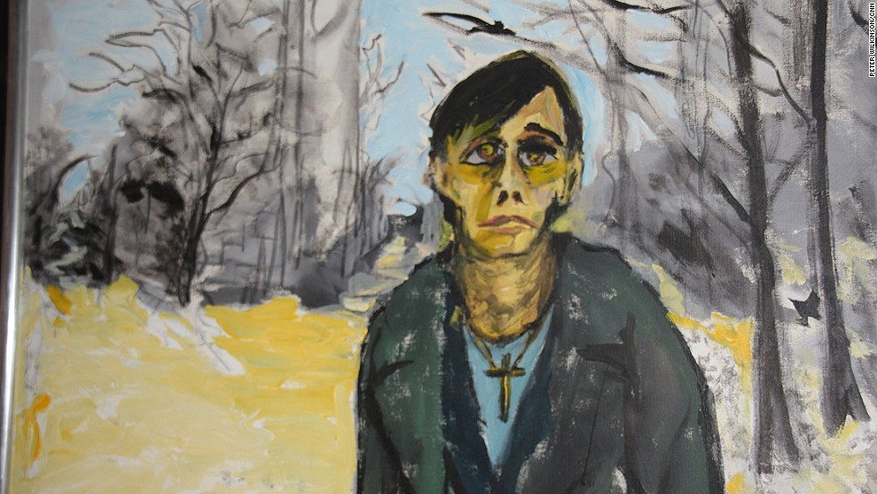 Bowie lived with Pop at 155 Hauptstrasse in Berlin where they embarked on 14 months of intense musical and artistic creativity. He painted this portrait as the pair sought to clean up from drug addiction.