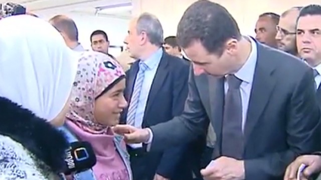 Syrian president steps out in public