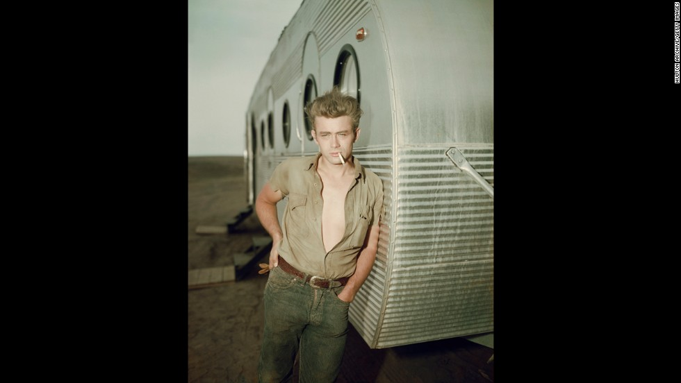 The name James Dean has become synonymous with youthful male cool. The actor, seen here about 1955, set the mold for teen heartthrobs with his brooding but pristine looks, coiffed hair and specific style.