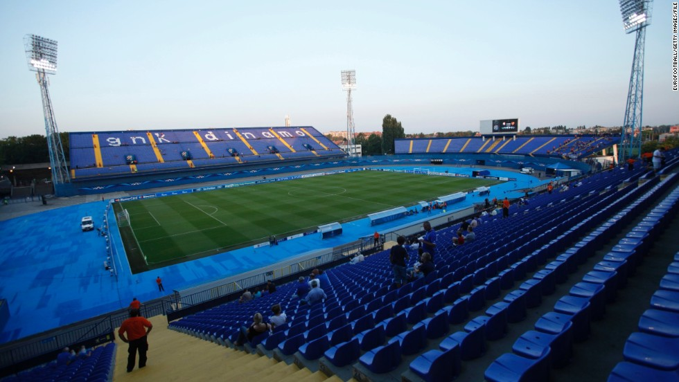 The Maksimir Stadium in the Croatian capital city of Zagreb will be the venue for Friday's match. It is the home of Dinamo Zagreb, who reached the group stage of this season's European Champions League.