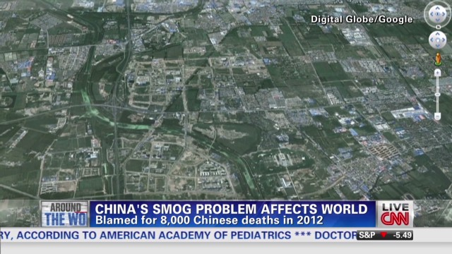China's smog problem affects world