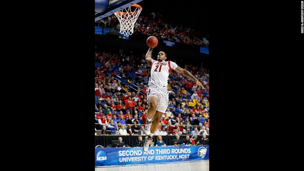 Chane Behanan of Louisville goes up for a dunk against the N.C. A&T Aggies on Thursday, March 21.