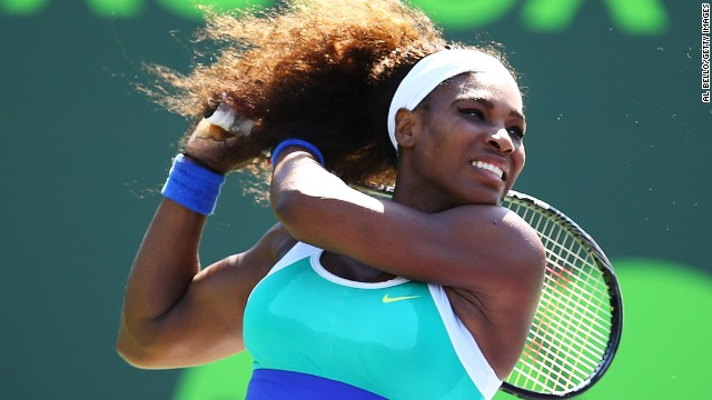 Serena Williams is the No. 1 seed in Miami and has won the tournament on five occasions.