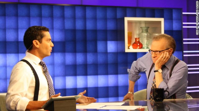Ismael Cala interviews Larry King.
