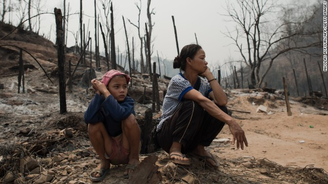 More than 100 people were injured in the fire, which destroyed about 400 homes at the Mae Surin camp.