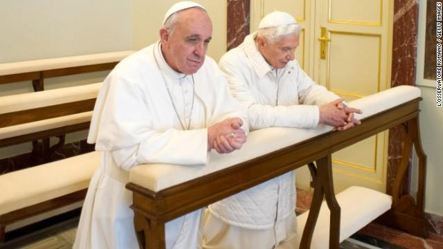Pope Francis meets with Benedict XVI