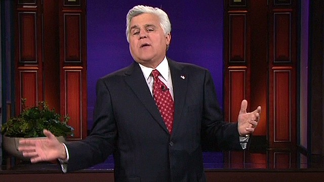 Jay Leno jokes about NBC