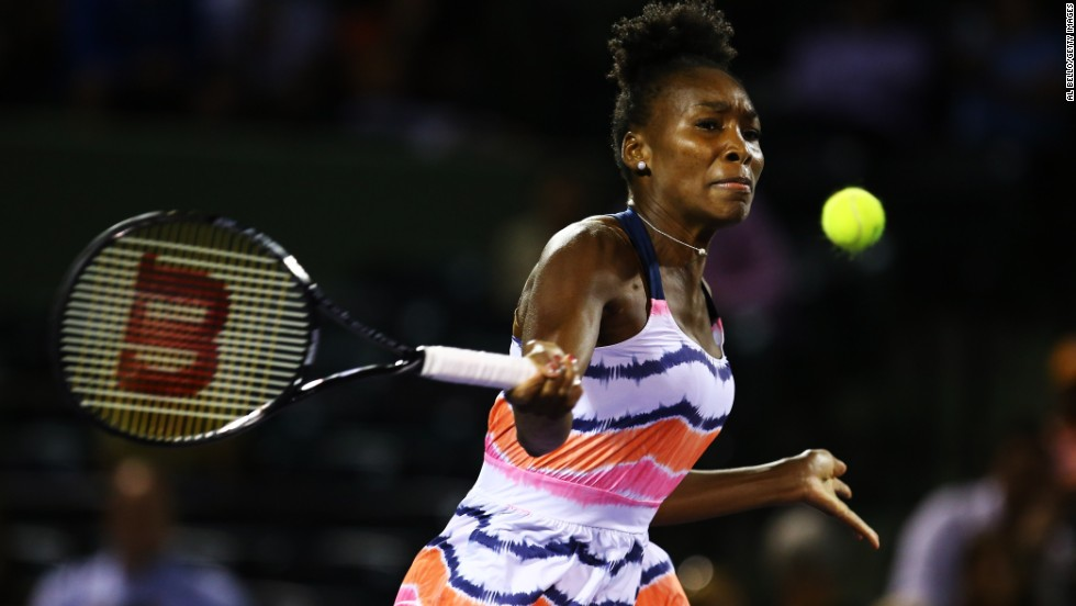 Venus Williams was forced to withdraw from the tournament after complaining of a lower back injury. The three-time Miami winner, who was set to face fellow American Sloane Stephens in the third round, hopes to return to action next month.