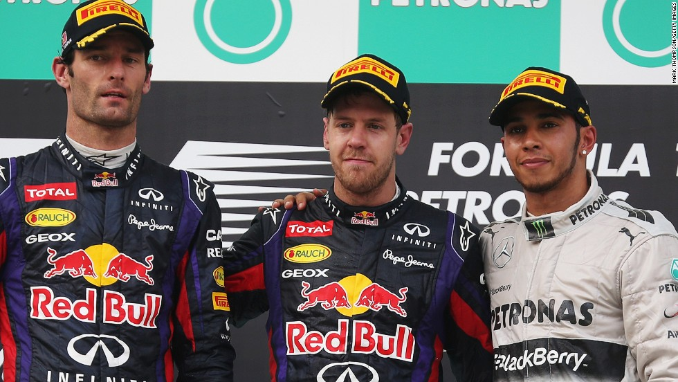 They shared the podium with third-placed Lewis Hamilton, whose Mercedes teammate Nico Rosberg obeyed team orders and did not attack the English driver even though he felt he was quicker.