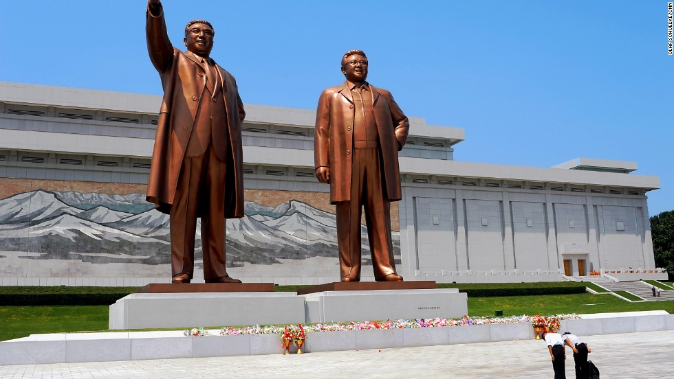 They're not just honored at the games. Images and massive statues of former leaders Kim Il Sung and son Kim Jong Il dominate North Korea.
