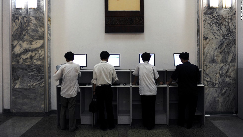 Intranet terminals are in heavy use inside Pyongyang's Grand People's Study Hall. The Study Hall allows citizens to take foreign language, computer skills and other courses.