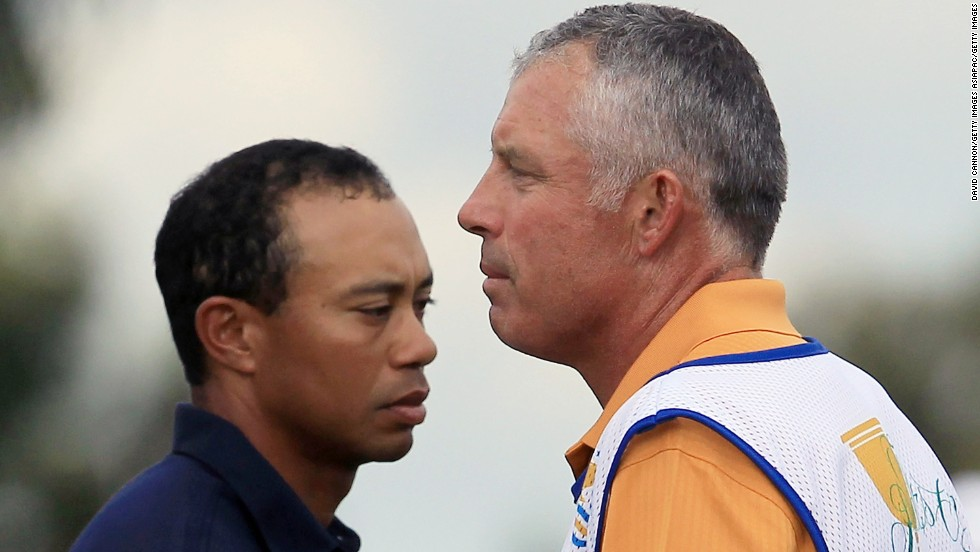 "In July 2011, Woods dropped Williams, his caddy of 12 years. ""I want to express my deepest gratitude to Stevie for all his help, but I think it's time for a change,"" <a href=""http://edition.cnn.com/2011/SPORT/golf/07/20/golf.woods.caddie.williams/index.html"">Woods said</a>. Here, the two share a laugh during a practice round two months before Williams was let go."