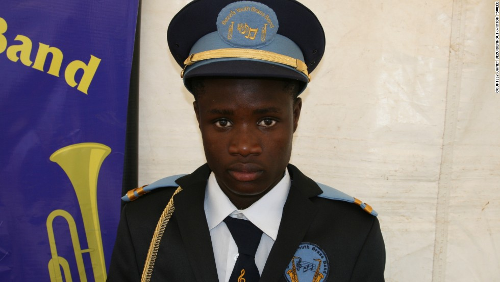 "Last year Sarel Ramphele, 17, was awarded a trophy for being the band's best trumpeter. ""I used to spend a lot of time on the streets doing nothing. The band keeps my mind fresh and helps me develop,"" he says."