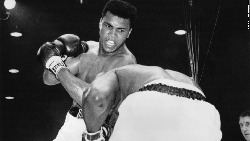 "<a href=""http://cnnphotos.blogs.cnn.com/2014/03/04/three-days-with-the-greatest/"">Boxer Muhammad Ali</a> — then known as Cassius Clay — upsets Sonny Liston in a heavyweight title fight in Miami Beach, Florida, on February 25, 1964. He was 22 years old. A short time later, Clay joined the Nation of Islam and changed his name to Muhammad Ali."