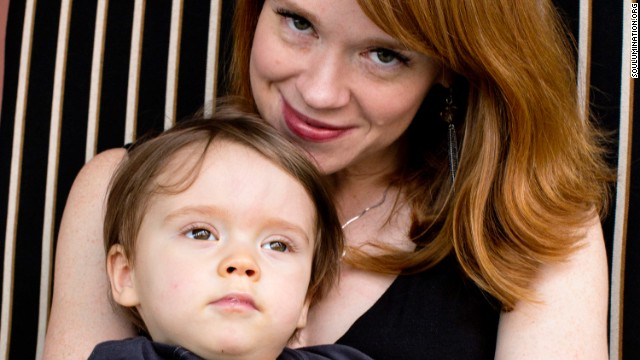 Emily Rapp with her son, Ronan.