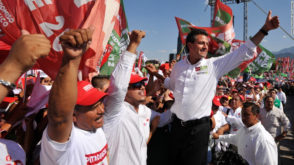 Enrique Pena Nieto's rise to the presidency ended a 12-year drought for Mexico's PRI party, which until 2000 had won 12 straight national elections over 71 years.