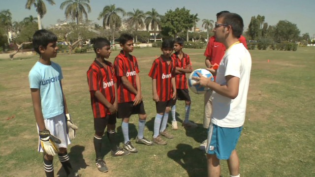 Football helps champion street kids