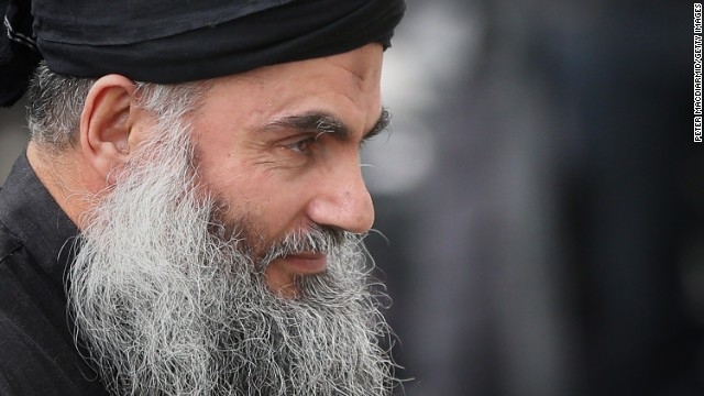 Abu Qatada, shown in November 2012, was convicted in absentia in Jordan in 1999 on conspiracy charges.