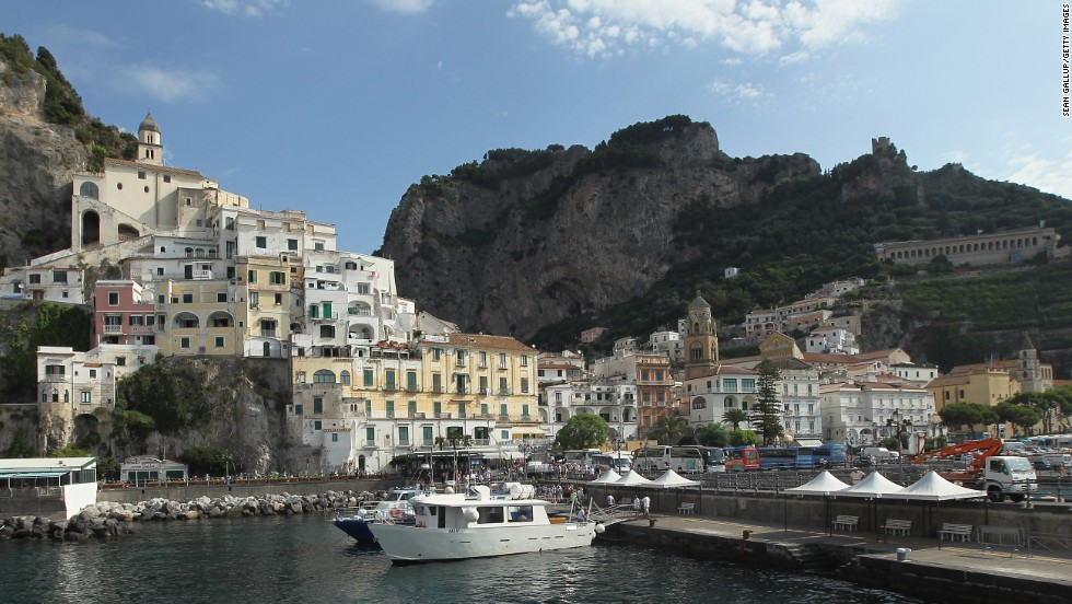 """""""Villages are set into the mountainside, with so much color and character,"""" says Krywicki of Italy's Amalfi Coast. """"This is a great place for the adventurous couple to walk from village to village discovering postcard moments."""""""