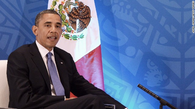 President Obama, shown on a 2012 visit to Mexico, tells Telemundo he is looking forward to visiting the country again in May.
