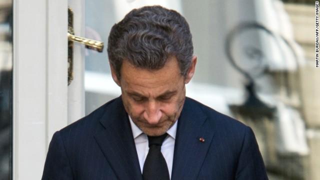 Former French president Nicolas Sarkozy in Paris on March 25, 2013.