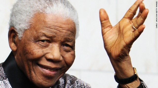 Former South African leader Nelson Mandela  has been hospitalized since June.