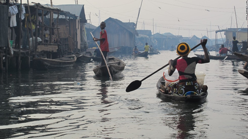 "Nicknamed by some as the ""Venice of Africa,"" the floating village of Makoko in Lagos, Nigeria, is home to people who not only live on water, but depend on it for their livelihood. The area is still considered an informal settlement with very limited government presence. CNN's Errol Barnet visited Makoko for the Inside Africa show."