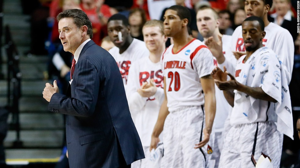 Pitino's top-seeded Cardinals are two wins from the final four. They play 12th-seeded Oregon in the Sweet 16 Friday.