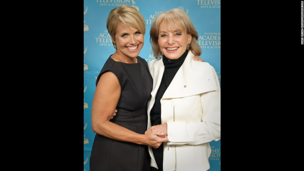 Walters and fellow TV journalist Katie Couric attended the 30th annual News & Documentary Emmy Awards at Frederick P. Rose Hall in 2009 in New York.