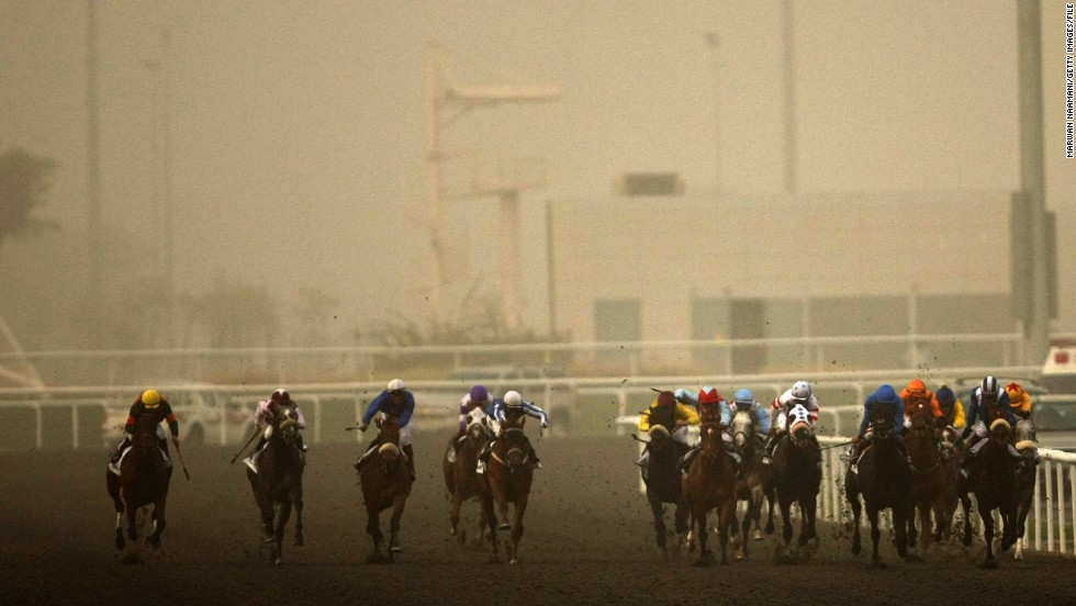 "The extreme Gulf heat, up to 120 degrees Fahrenheit (48.9 degrees Celsius) at the height of summer, make breeding and racing thoroughbreds a difficult task. ""In terms of racing, we have a short lifespan -- from the start of November to end of March,"" said Dubai World Cup chief executive, Frank Gabriel."