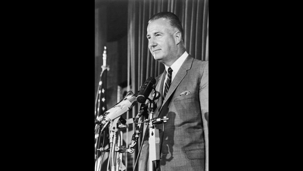 "Vice President Spiro Agnew made more than one racially insensitive gaffe during his time in the public eye. On separate occasions during the 1968 presidential campaign, Agnew referred to a Japanese reporter as a ""fat Jap"" and to Polish-Americans as ""polacks."""