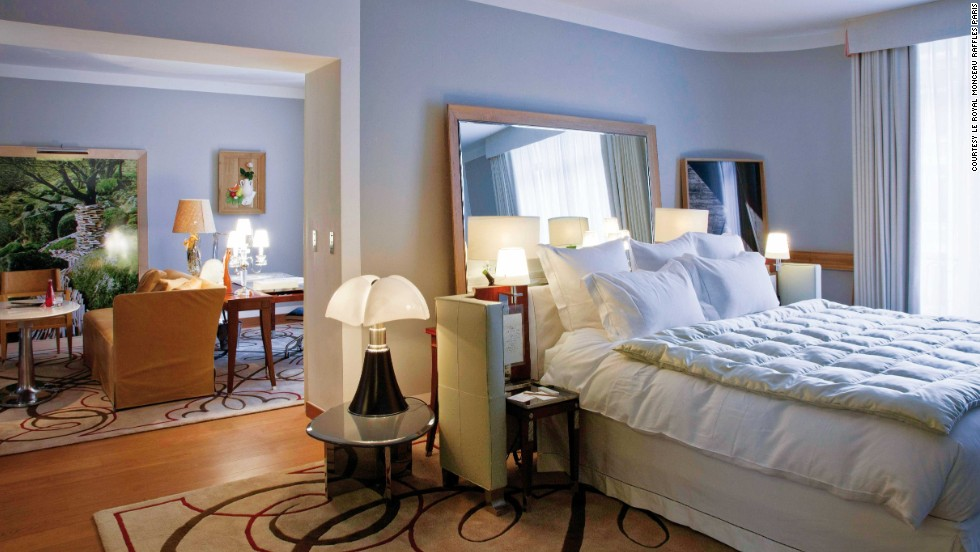 Le Royal Monceau Raffles Paris boasts interiors designed by Philippe Starck.