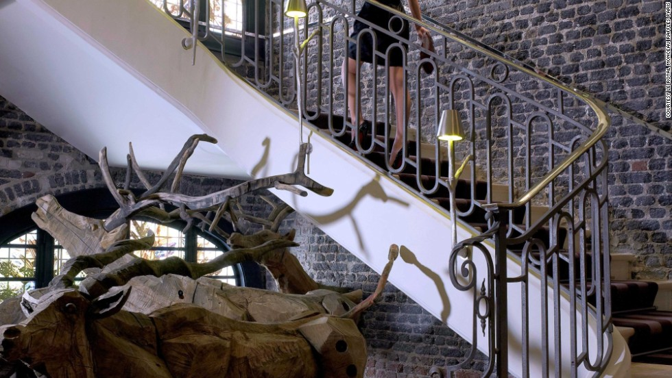 Le Royal Monceau Raffles Paris is just steps away from the Arc de Triomphe and the Champs Elysees. Inside, Nikolay Polissky's hand-crafted reindeer congregate at the bottom of a stairwell.