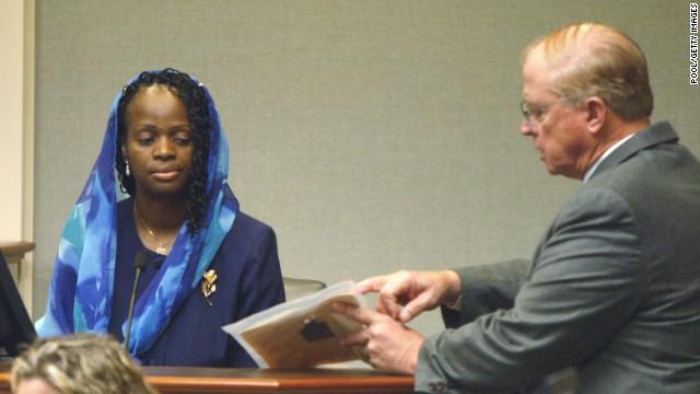 Mildred Muhammad testifies in court