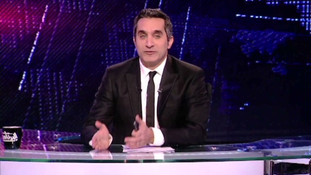 TV satirist Bassem Youssef was questioned by Egypt's government