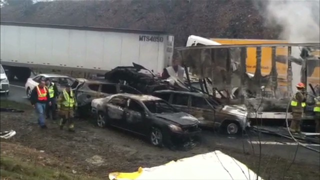 VA: 75 Car Pileup Kills 3