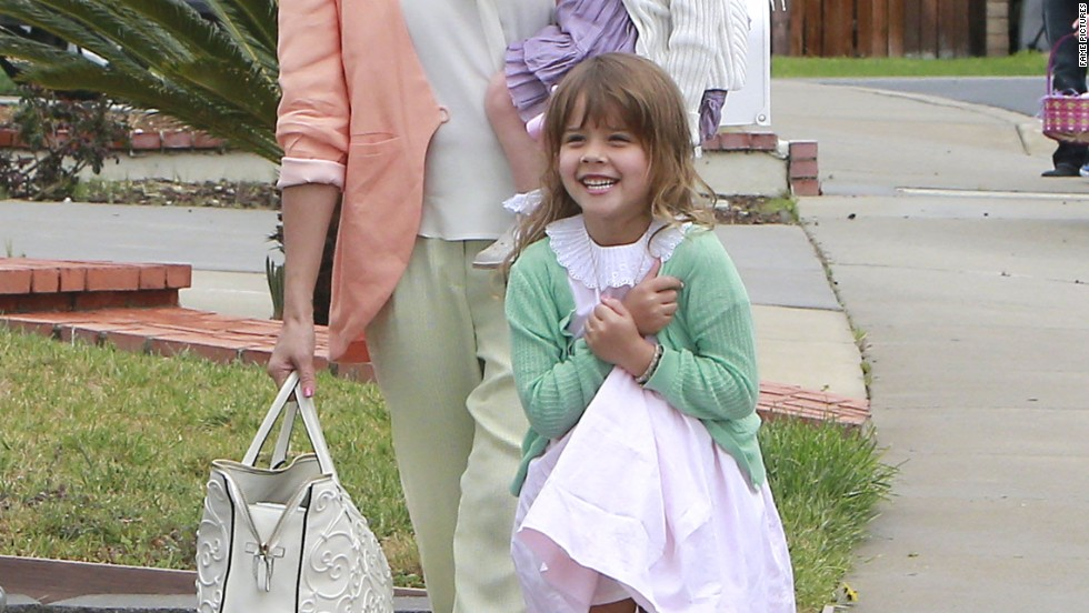 Jessica Alba and her family spend Easter together.