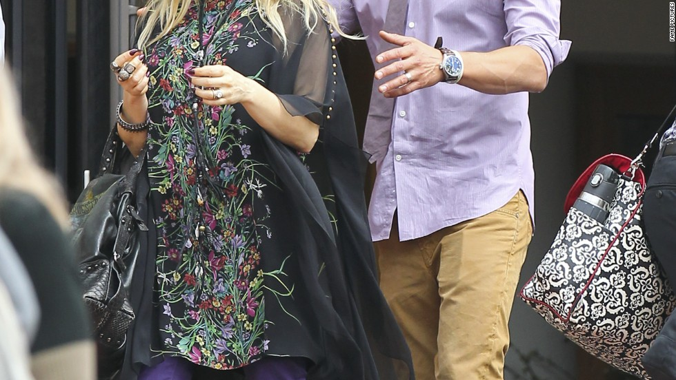 Fergie and Josh Duhamel attend church in Santa Monica, California.