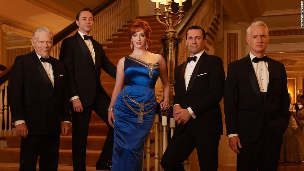 "Bertram, Pete, Joan, Don and Roger during season 6 of ""Mad Men."""