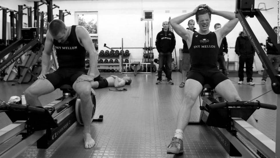 """For the rowers, a grueling training regime begins in September. """"You just have to make time for studying in between meetings,"""" Nash said."""