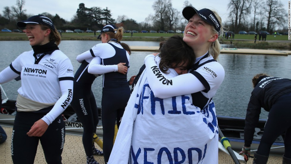It's not just males who take part. The women's boat race was first launched in 1927, with the Oxford ladies also emerging victorious this year.
