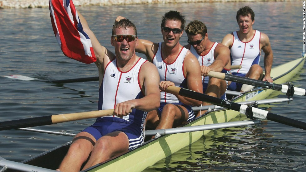 """The boat race isn't a race to lose -- you spend six months of your life training for it and to come second on the day is devastating,"" said former Oxford rower and four-time Olympic gold medalist, Matthew Pinsent, pictured front. ""But to win, is magical."""