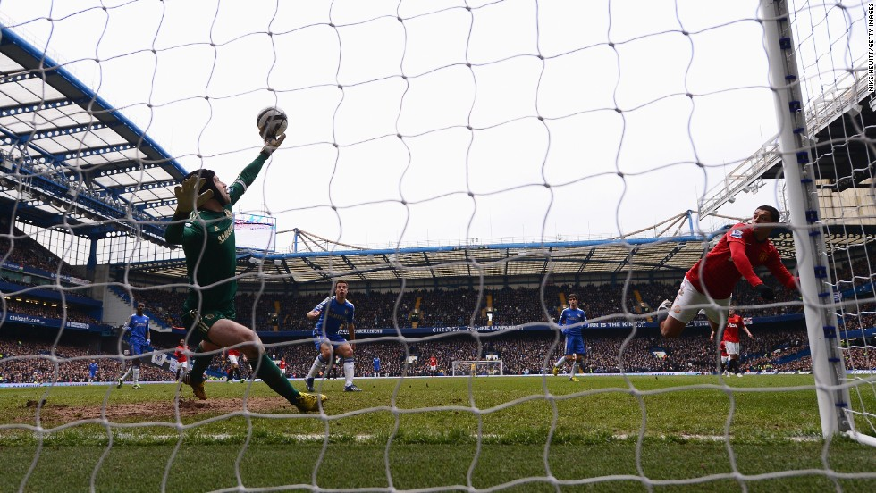 Petr Cech's wonder save from Javier Hernandez helped Chelsea reach the FA Cup semifinals.