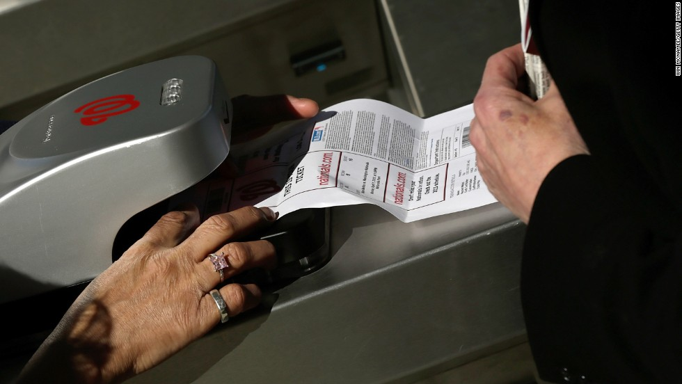 A fan's ticket is scanned at Nationals Park.