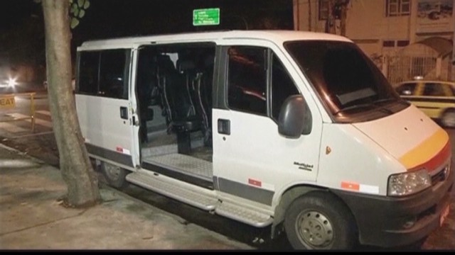 Two arrested after rape on Rio minibus