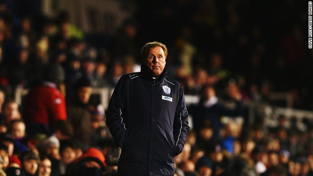 Harry Redknapp looks on alone as his QPR side gift the game to Fulham before launching a late fightback in vain