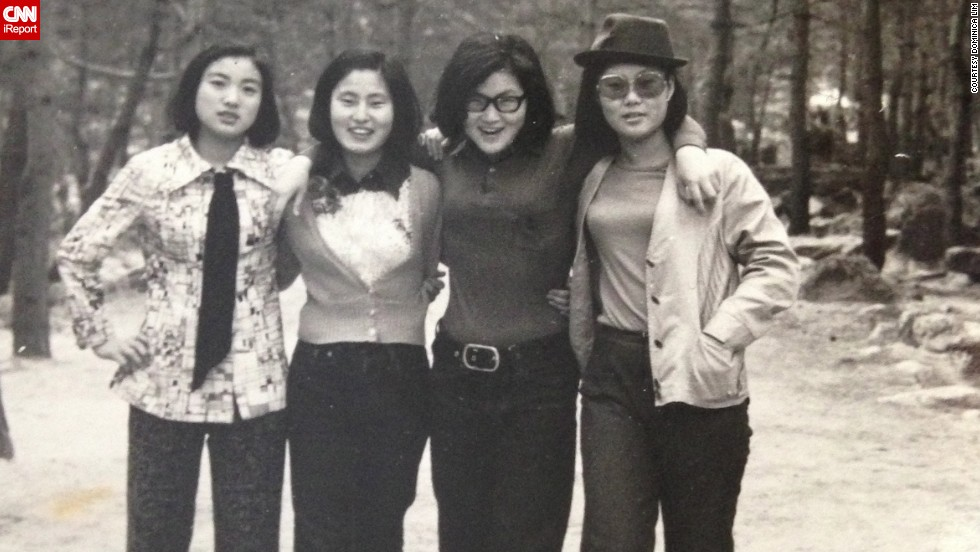 "<a href=""http://ireport.cnn.com/docs/DOC-948735"">Dominica Lim's mom</a>, far left, wears a tie and bell-bottom pants as she poses for a picture with her friends in South Korea in 1969. ""I think the fashion of the 1960s was very classy with a touch of fun,"" Lim says."