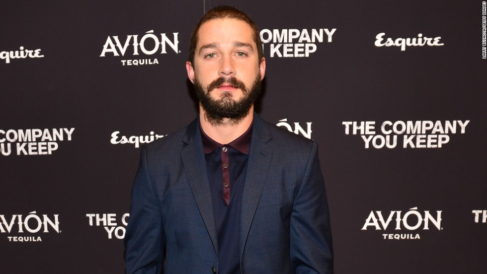 "Shia LaBeouf attends the New York premiere of ""The Company You Keep."""
